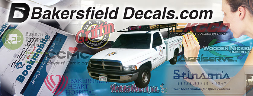 Welcome to bakersfield decals we specialize in high quality inexpensive decal printing for any of your needs with fast turn around